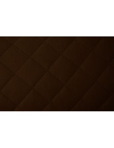 Látka Alcantra prošívaná - Tmavě hnědá